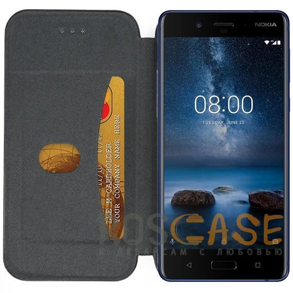 Open Color | Чехол-книжка для Nokia 8 Dual SIM с функцией подставки и магнитом (Черный), , Чехлы