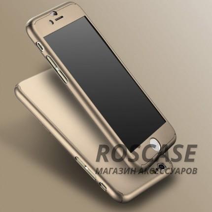 Чехол iPaky 360 градусов для Apple iPhone 6/6s (4.7) (+ стекло на экран) (Золотой)Описание:производитель: iPaky;совместимость: смартфон Apple iPhone 6/6s (4.7);материалы для изготовления: поликарбонат и каленое стекло;форм-фактор: накладка.Особенности:надежная защита: чехол, бампер, стекло;высокий уровень износостойкости и прочности;ультратонкий, не увеличивает визуально объем;легко фиксируется;легко очищается.<br><br>Тип: Чехол<br>Бренд: Epik<br>Материал: Пластик