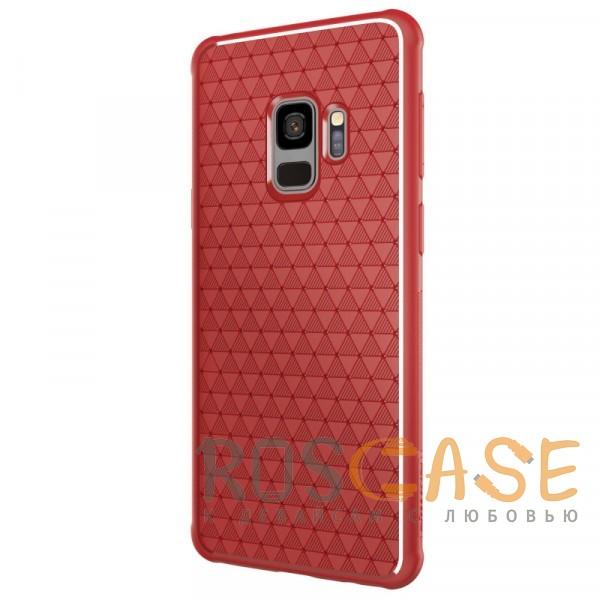 Изображение Красный Nillkin Weave | Ультратонкий чехол для Samsung Galaxy S9 с дополнительной защитой углов
