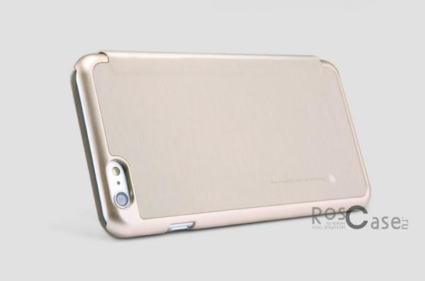 Кожаный чехол (книжка) Nillkin Rain Series для Apple iPhone 6/6s plus (5.5) (+ пленка) (Золотой)Описание:производитель  -  компания&amp;nbsp;Nillkin;совместимость - Apple iPhone 6/6s plus (5.5);материалы  -  искусственная кожа, поликарбонат;форма  -  чехол-книжка.&amp;nbsp;Особенности:в наличии все функциональные вырезы;надежная система крепления;тонкий и легкий;пленка в комплекте;защита от ударов и царапин;необычный дизайн.<br><br>Тип: Чехол<br>Бренд: Nillkin<br>Материал: Искусственная кожа