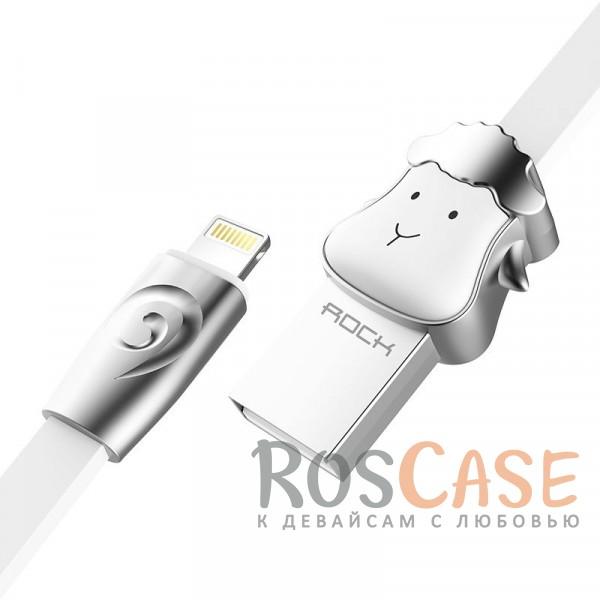 Кабель ROCK Lightning (Chinese Zodiac) для Apple iPhone 5/5s/5c/SE/6/6 Plus/6s/6s Plus /7/7 Plus 1m (Sheep-White)Описание:бренд&amp;nbsp;Rock;материал - TPE (термоэластопласт);совместимость: Apple iPhone 5/5s/5c/SE/6/6 Plus/6s/6s Plus /7/7 Plus:оригинальный дизайн;длина&amp;nbsp;кабеля - 1 м;ток - 5V/2.4 A Max;разъемы&amp;nbsp; - &amp;nbsp;Lightning USB,&amp;nbsp;USB;высокая скорость передачи данных;совмещает три в одном: синхронизация данных, передача данных, зарядка;плоский.<br><br>Тип: USB кабель/адаптер<br>Бренд: ROCK