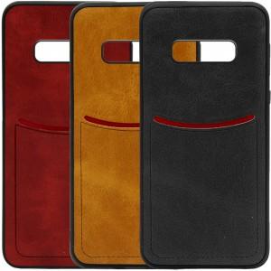 ILEVEL | Чехол с кожаным покрытием и с карманом-визитницей для Samsung Galaxy S10e
