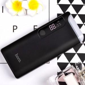 Hoco B27 | Компактное портативное зарядное устройство Power Bank с фонариком и экраном (15000 mAh) для Samsung Galaxy J7 Neo (J701F)