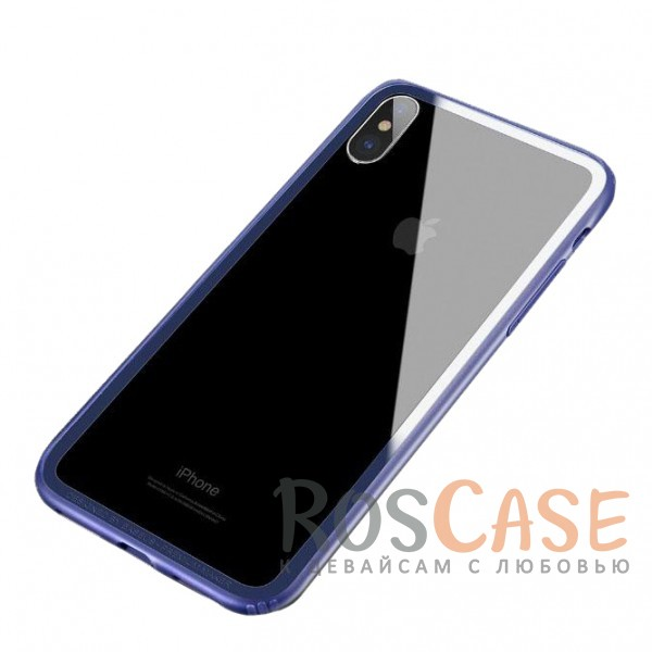 Тонкий силиконовый бампер Baseus Hard And Soft с прочными пластиковыми бортиками для защиты экрана для Apple iPhone X (5.8) (Синий)Описание:бренд - Baseus;материалы - термополиуретан, пластик;совместимость -&amp;nbsp;Apple iPhone X (5.8);формат - бампер;защита всех граней;предусмотрены все вырезы;выступающие бортики.<br><br>Тип: Чехол<br>Бренд: Baseus<br>Материал: TPU