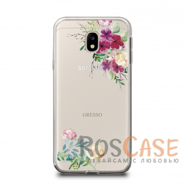 Прозрачный силиконовый чехол Gresso с нежным цветочным принтом для Samsung J330 Galaxy J3 (2017) (Нежные бутоны)Описание:бренд - Gresso;совместим с Samsung J330 Galaxy J3 (2017);цветочный принт;материал - TPU;тип - накладка;прозрачный;защищает от ударов и царапин;гибкий.<br><br>Тип: Чехол<br>Бренд: Gresso<br>Материал: TPU