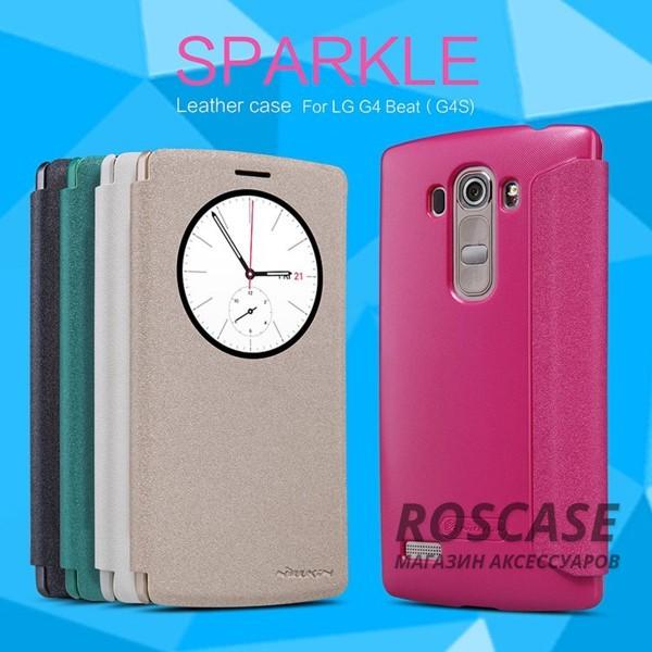 Кожаный чехол (книжка) Nillkin Sparkle Series для LG H734/H736 G4s DualОписание:бренд -&amp;nbsp;Nillkin;совместим с LG H734/H736 G4s Dual;материал - кожзам;тип: книжка.&amp;nbsp;Особенности:функция Sleep mode;окошко в обложке;блестящая поверхность;защита со всех сторон.<br><br>Тип: Чехол<br>Бренд: Nillkin<br>Материал: Искусственная кожа