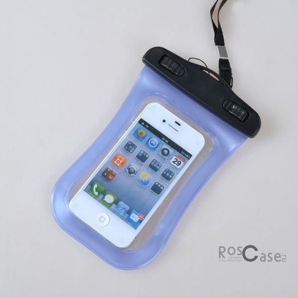 Водонепроницаемый пластиковый чехол для телефона 3.5-5.5 дюйма (Синий)Описание:совместимость: устройства с диагональю до 5,5;используемый материал: мягкий пластик;форма: чехол.Особенности:износостойкий;надежный;стильный;ультратонкий;простота эксплуатации;через чехол можно управлять смартфоном;размеры чехла - 17*10 см;в комплекте&amp;nbsp;шнурок длиной 40 см.<br><br>Тип: Чехол<br>Бренд: Epik<br>Материал: Пластик