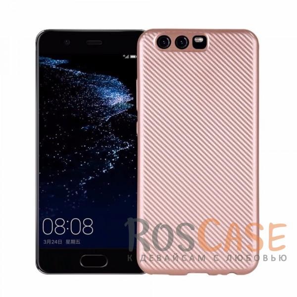 Матовый чехол для Huawei P10 с текстурированной поверхностью под карбон (Rose Gold)Описание:накладка предназначена для&amp;nbsp;Huawei P10;материал - термополиуретан;покрытие имитирует текстуру карбона;защищает от ударов;на чехле не заметны отпечатки пальцев;накладка устойчива к появлению царапин;матовая фактура не скользит в руках;защита камеры от царапин;в наличии все вырезы.<br><br>Тип: Чехол<br>Бренд: Epik<br>Материал: TPU