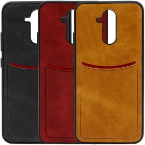 ILEVEL | Чехол с кожаным покрытием и с карманом-визитницей для Huawei Mate 20 lite