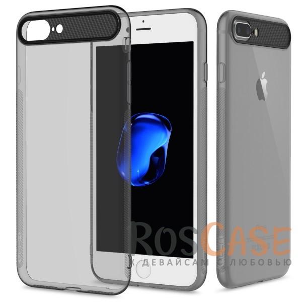 TPU+PC чехол Rock Ace Series для Apple iPhone 7 plus (5.5) (Черный / Transparent black)Описание:произведен фирмой&amp;nbsp;Rock;материал: термополиуретан, поликарбонат;совместимость: Apple iPhone 7 plus (5.5);тип: накладка.<br><br>Тип: Чехол<br>Бренд: ROCK<br>Материал: TPU