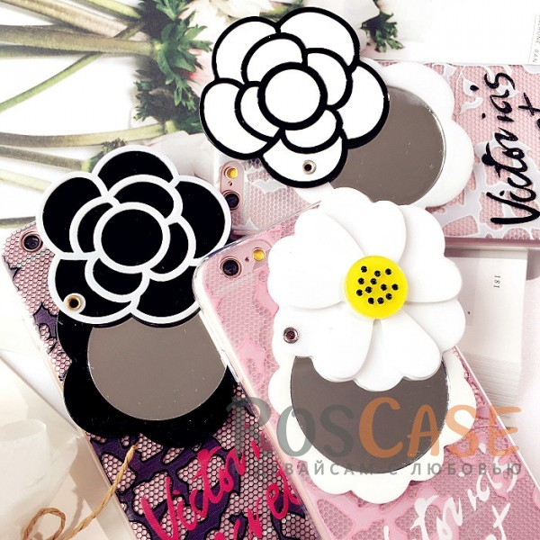 "Фото TPU чехол с зеркалом ""Beauty flower"" для Apple iPhone 7 plus / 8 plus (5.5"")"