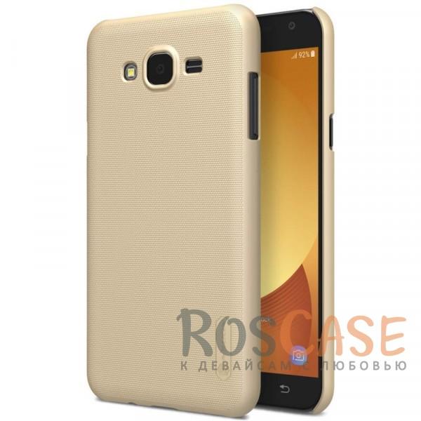 Матовый чехол для Samsung J701 Galaxy J7 Neo (+ пленка) (Золотой)Описание:совместимость: Samsung J701 Galaxy J7 Neo;материал: поликарбонат;тип: накладка;закрывает заднюю панель и боковые грани;защищает от ударов и царапин;рельефная фактура;не скользит в руках;ультратонкий дизайн;защитная плёнка на экран в комплекте.<br><br>Тип: Чехол<br>Бренд: Nillkin<br>Материал: Поликарбонат