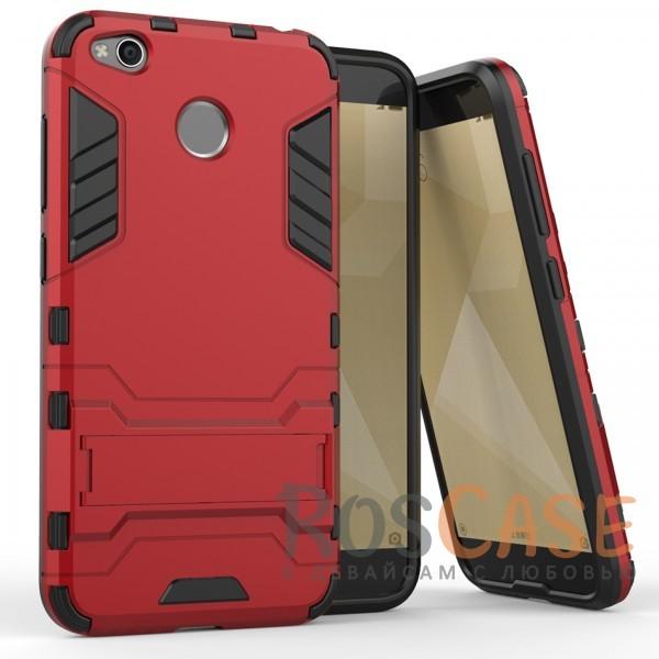 Ударопрочный чехол-подставка Transformer для Xiaomi Redmi 4X с мощной защитой корпуса (Красный / Dante Red)Описание:совместимость - Xiaomi Redmi 4X;материалы - термополиуретан, поликарбонат;тип - накладка;функция подставки;защита от ударов, сколов, трещин;не скользит в руках;прочная конструкция;все необходимые функциональные вырезы.<br><br>Тип: Чехол<br>Бренд: Epik<br>Материал: Силикон