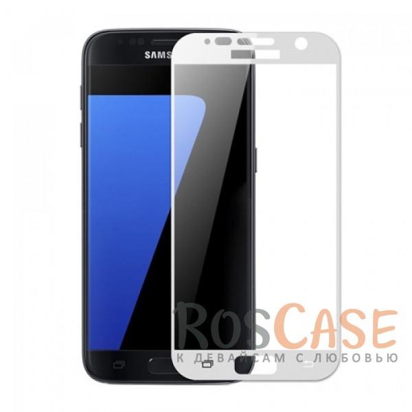 Ультратонкое цветное стекло с закругленными краями для Samsung G930F Galaxy S7 (в упаковке)? (Белый)Описание:защита от ударов и царапин;ультратонкий дизайн;идеально совместимо с Samsung G930F Galaxy S7;ударопрочное;цветная рамка;олеофобное покрытие.<br><br>Тип: Защитное стекло<br>Бренд: Epik