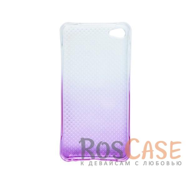 Фотография Фиолетовый Гибкий чехол для Meizu U20 из прозрачного силикона с градиентным цветным напылением
