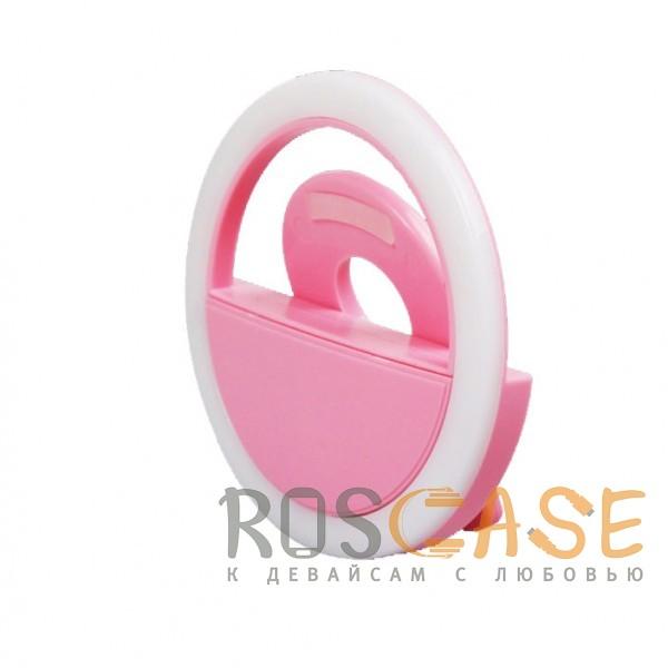 Фото Розовый Selfie Ring Light   Светодиодное кольцо для селфи с кнопкой переключения яркости