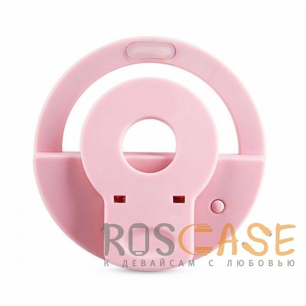 Изображение Розовый Selfie Ring Light   Светодиодное кольцо для селфи с кнопкой переключения яркости