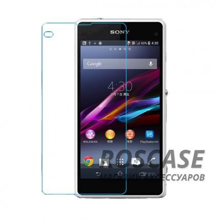 Защитное стекло Ultra Tempered Glass 0.33mm (H+) для Sony Xperia Z1 Compact (картонная упаковка)Описание:бренд&amp;nbsp;Epik;совместимость Sony Xperia Z1 Compact;материал: закаленное стекло;тип: защитное стекло на экран.&amp;nbsp;Особенности:закругленные&amp;nbsp;грани;не влияет на чувствительность сенсора;легко очищается;толщина - &amp;nbsp;0,33 мм;абсолютно прозрачное;защита от царапин и ударов.<br><br>Тип: Защитное стекло<br>Бренд: Epik