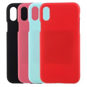 "Гибкий матовый защитный чехол Mercury Soft Feeling Jelly с поверхностью Soft-Touch для Apple iPhone X (5.8"")/XS (5.8"")"