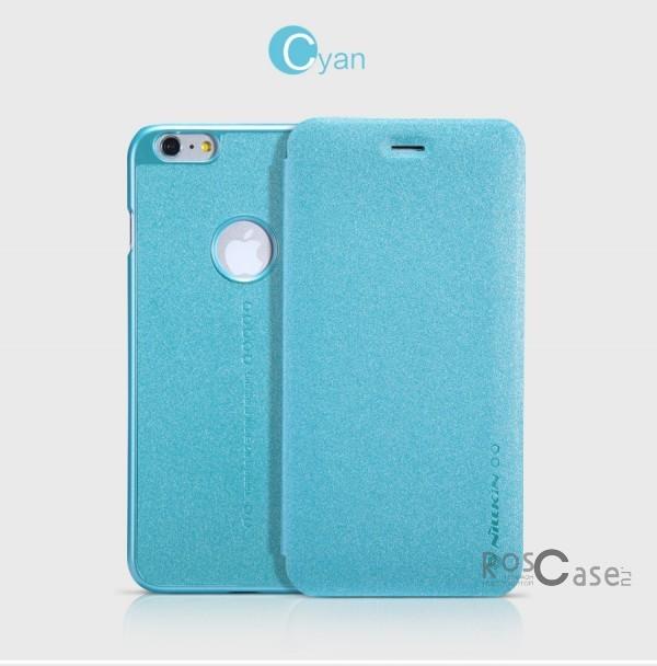 Кожаный чехол (книжка) Nillkin Sparkle Series для Apple iPhone 6 plus (5.5)  / 6s plus (5.5)  (Бирюзовый)Описание:разработчик и производитель&amp;nbsp;Nillkin;изготовлен из синтетической кожи и поликарбоната;фактурная поверхность;тип конструкции: чехол-книжка;совместим с Apple iPhone 6 plus (5.5)  / 6s plus (5.5).&amp;nbsp;Особенности:внутренняя отделка из микрофибры;ультратонкий;не скользит в руках;яркая, насыщенная палитра цветов.<br><br>Тип: Чехол<br>Бренд: Nillkin<br>Материал: Искусственная кожа