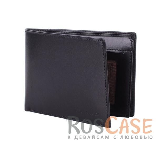 Фото Мужской кошелек из натуральной кожи с внешним карманом и откидным отделением для водительских прав