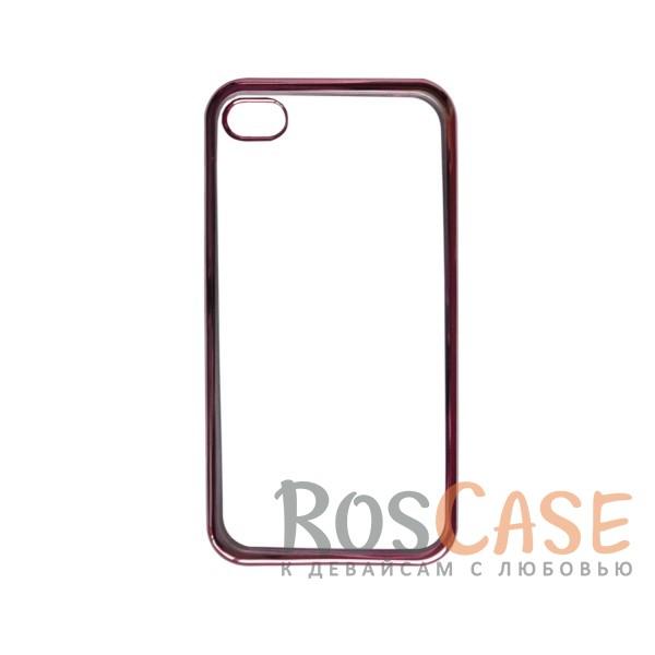 Прозрачный силиконовый чехол для Apple iPhone 4/4S с глянцевой окантовкой (Розовый)Описание:совместим с Apple iPhone 4/4S;материал - термополиуретан;тип - накладка.<br><br>Тип: Чехол<br>Бренд: Epik<br>Материал: TPU