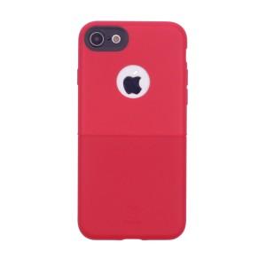 """Элегантная тонкая накладка из двух материалов с декоративной строчкой Baseus Half to Half для Apple iPhone 7 (4.7"""")"""