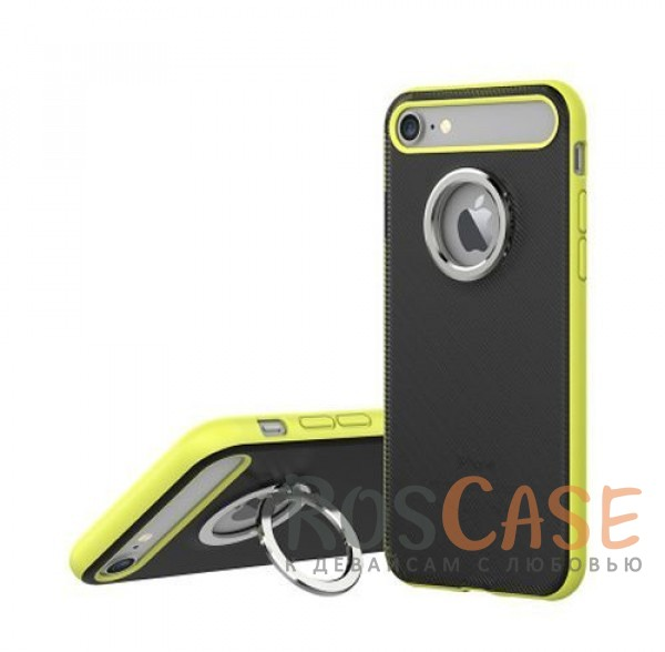 TPU+PC чехол Rock Ring Holder Case M2 Series для Apple iPhone 7 (4.7) (Зеленый / Green)Описание:произведен компанией&amp;nbsp;Rock;разработан для Apple iPhone 7 (4.7);материалы: термополиуретан и поликарбонат;тип: накладка.<br><br>Тип: Чехол<br>Бренд: ROCK<br>Материал: TPU