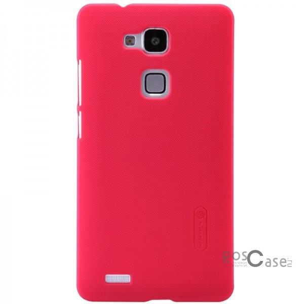Чехол Nillkin Matte для Huawei Ascend Mate 7 (+ пленка) (Красный)Описание:Произведен компанией&amp;nbsp;Nillkin;Спроектирован персонально для Huawei Ascend Mate 7;Материал: пластик;Форма: накладка.Особенности:Исключается появление царапин и возникновение потертостей;Восхитительная амортизация при любом ударе;Матовая, ребристая поверхность;Обладает изящным, элегантным дизайном;Не подвергается деформации;Непритязателен в уходе.<br><br>Тип: Чехол<br>Бренд: Nillkin<br>Материал: Поликарбонат