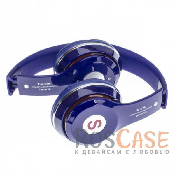 Изображение Синий TM-012S | Беспроводные наушники Bluetooth с микрофоном и разъемом для карты памяти