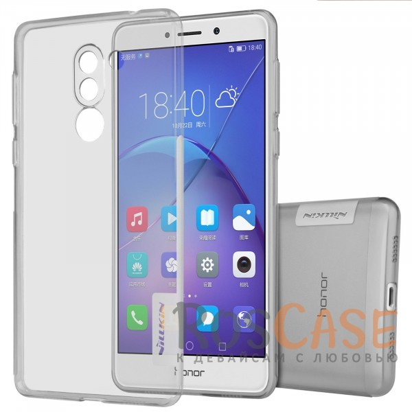 TPU чехол Nillkin Nature Series для Huawei Honor 6X / Mate 9 Lite (Серый (прозрачный))<br><br>Тип: Чехол<br>Бренд: Nillkin<br>Материал: TPU
