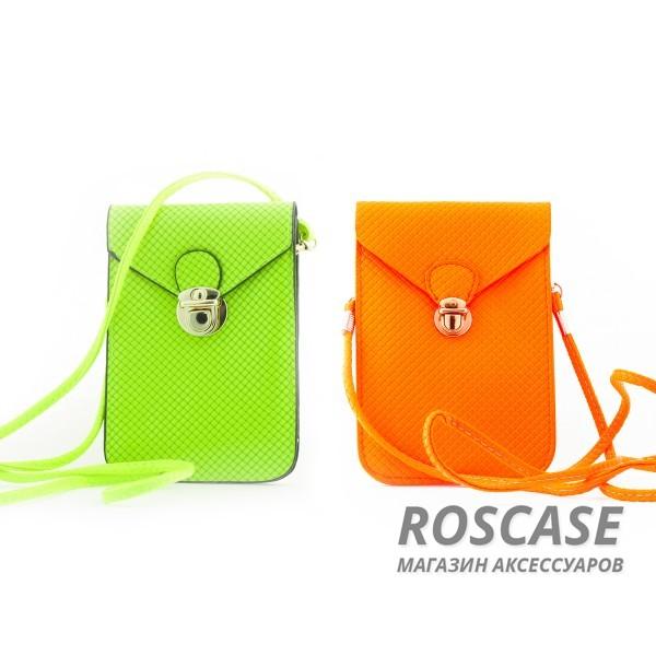 фото универсальная кожаная сумка 15.5 x 10.5cm для Samsung i9500/i9300 / iPhone / Sony / HTC / LG / Nokia