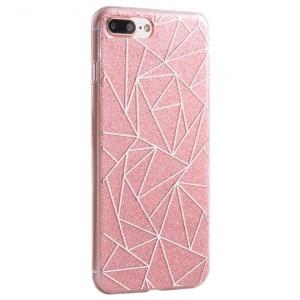 """Силиконовый чехол для Apple iPhone 7 Plus (5.5"""") с блестящим геометрическим узором"""