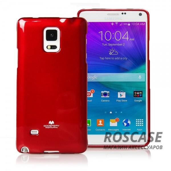 TPU чехол Mercury Jelly Color series для Samsung N910H Galaxy Note 4Описание:бренд  -  Mercury;совместимость  -  телефоны Samsung N910H Galaxy Note 4;материал  -  термопластичный полиуретан (ТПУ);форма чехла  -  накладка.Особенности:износостойкость, прочность;поверхность  -  глянцевая, нескользящая;в наличии все функциональные вырезы;ультратонкий.<br><br>Тип: Чехол<br>Бренд: Mercury<br>Материал: TPU