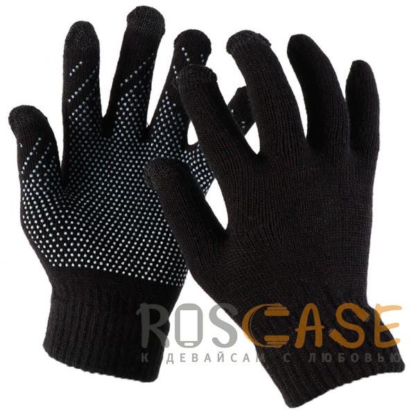 Фото Емкостные перчатки утепленные (нескользящие)