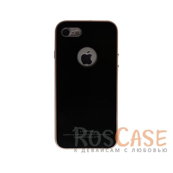 Металлический бампер Luphie с акриловой вставкой для Apple iPhone 7 (4.7) (Золотой / Черный)Описание:бренд -&amp;nbsp;Luphie;материал - алюминий, акриловое стекло;совместим с Apple iPhone 7 (4.7);тип - бампер со вставкой.Особенности:акриловая вставка;прочный алюминиевый бампер;в наличии все вырезы;ультратонкий дизайн;защита устройства от ударов и царапин.<br><br>Тип: Чехол<br>Бренд: Luphie<br>Материал: Металл