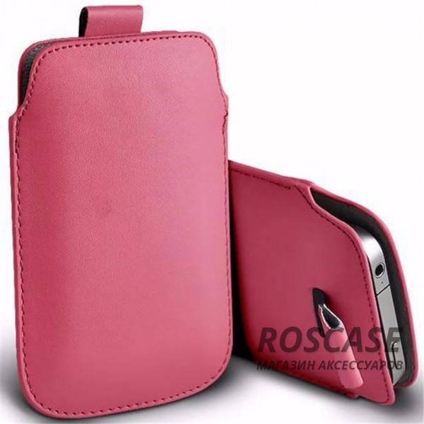 Кожаный чехол (футляр) для смартфона (140 x 75) (Розовый)Описание:производитель  -  Epik;совместимость: устройства с габаритами &amp;nbsp;140*75 мм;материал  -  искусственная кожа;форма  -  футляр.&amp;nbsp;Особенности:тонкий дизайн не увеличивает габариты;не скользит в руках;язычок для извлечения устройства;защищает от ударов и царапин;на нем не видны отпечатки пальцев;размер - &amp;nbsp;140 x 75 мм.<br><br>Тип: Чехол<br>Бренд: Epik<br>Материал: Искусственная кожа