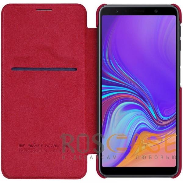 Фотография Красный Nillkin Qin натур. кожа | Чехол-книжка для Samsung A705F Galaxy A70