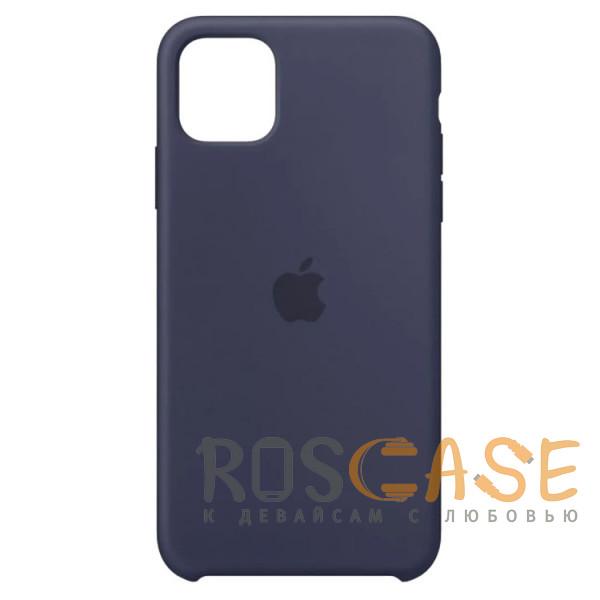 Фото Темно-синий Силиконовый чехол Silicone Case с микрофиброй для iPhone 11 Pro