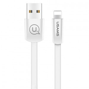 "USAMS US-SJ199 | Плоский дата кабель USB to Lightning (120 см) для Apple iPhone XS Max (6.5"")"
