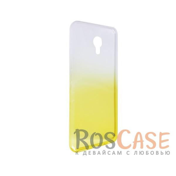 Изображение Желтый Прозрачный TPU чехол с цветным градиентом для Meizu MX6