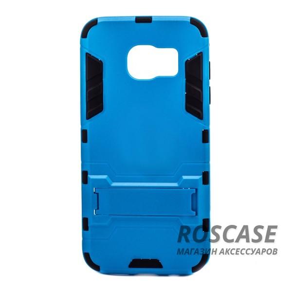 Ударопрочный чехол-подставка Transformer для Samsung G935F Galaxy S7 Edge с мощной защитой корпуса (Синий / Navy)Описание:подходит для Samsung G935F Galaxy S7 Edge;материалы: термополиуретан, поликарбонат;формат: накладка.&amp;nbsp;Особенности:функциональные вырезы;функция подставки;двойная степень защиты;защита от механических повреждений;не скользит в руках.<br><br>Тип: Чехол<br>Бренд: Epik<br>Материал: TPU