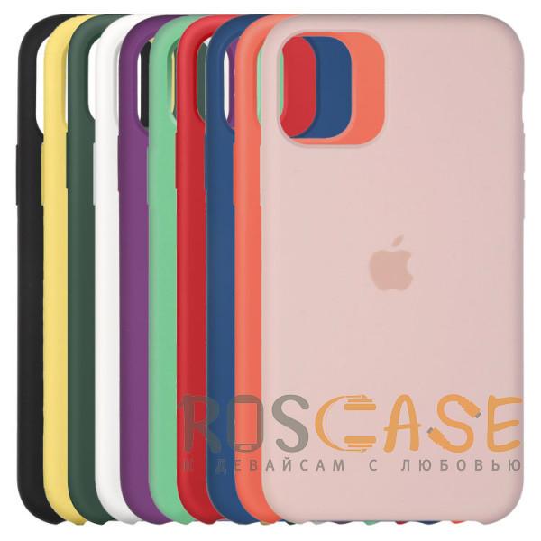 Фото Силиконовый чехол Silicone Case с микрофиброй для iPhone 11 Pro
