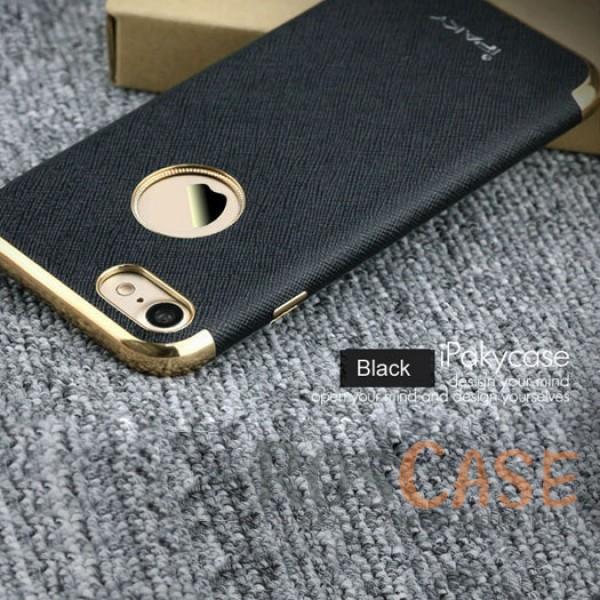 Кожаная накладка iPaky Chrome Series для Apple iPhone 7 (4.7) (Черный)Описание:производитель: iPaky;создана для&amp;nbsp;Apple iPhone 7 (4.7);материал изделия: искусственная кожа, хромированный пластик;конфигурация: накладка.Особенности:двухцветный дизайн;рельефная фактура;встроенная металлическая пластина;наличие всех функциональных вырезов;защита от царапин и ударов.<br><br>Тип: Чехол<br>Бренд: Epik<br>Материал: Искусственная кожа