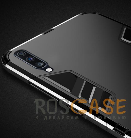 Фотография Черный / Soul Black Transformer | Противоударный чехол для Samsung A705F Galaxy A70 с мощной защитой корпуса