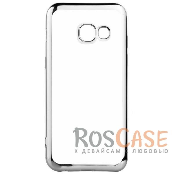 Прозрачный силиконовый чехол для Samsung A320 Galaxy A3 (2017) с глянцевой окантовкой (Серебряный)Описание:совместим с Samsung A320 Galaxy A3 (2017);глянцевая окантовка;материал - TPU;тип - накладка.<br><br>Тип: Чехол<br>Бренд: Epik<br>Материал: TPU