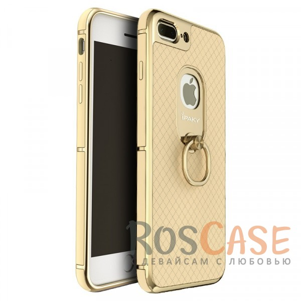 Чехол iPaky Ring Series для Apple iPhone 7 plus (5.5) (Золотой)Описание:идеально совместим с Apple iPhone 7 plus (5.5);бренд - iPaky;материал - поликарбонат, термополиуретан, искусственная кожа;тип - накладка.<br><br>Тип: Чехол<br>Бренд: Epik<br>Материал: Пластик