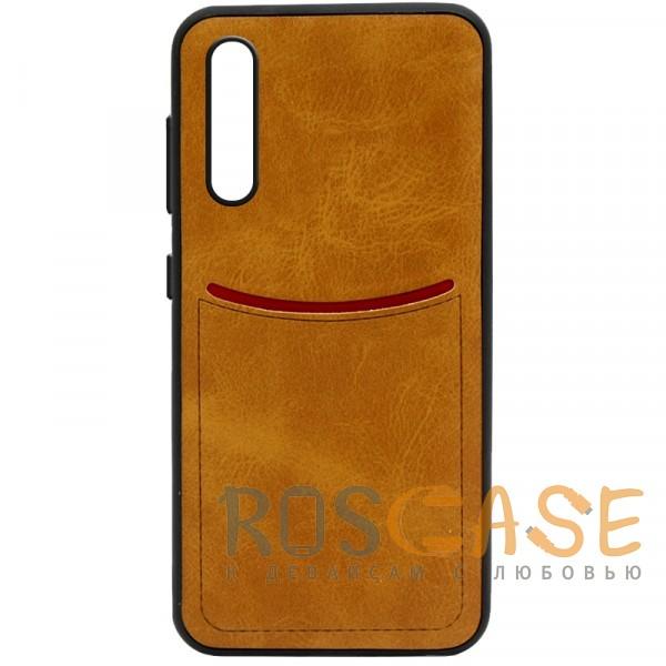 Фото Светло-коричневый ILEVEL   Чехол с кожаным покрытием и с карманом-визитницей для Huawei P20 Pro