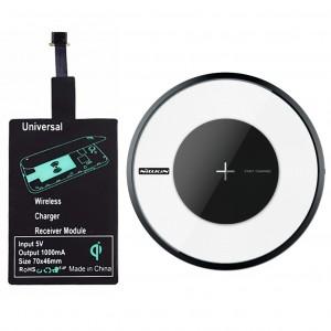 Комплект | Модуль беспроводной зарядки QI micro USB + Беспроводное зарядное устройство Magic Charger DISK 4