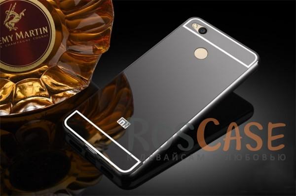 Защитный металлический бампер с зеркальной вставкой для Xiaomi Redmi 4X (Черный)Описание:разработан для&amp;nbsp;Xiaomi Redmi 4X;материалы - металл, акрил;тип - бампер с задней панелью.<br><br>Тип: Чехол<br>Бренд: Epik<br>Материал: Металл